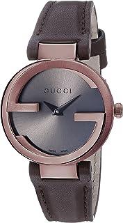 Gucci - YA133504 - Reloj de Cuarzo para Mujer, con Correa de Cuero, Color marrón