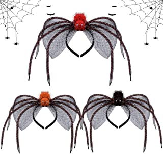 Spider Headband,Kapmore 3PCS Creative Halloween Costume Hair Hoop Party Headpiece for Kids Adults
