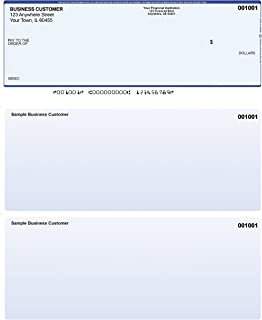 Blue Safety Computer Checks - 500 Printed Laser Computer Voucher Checks - Compatible for Quickbooks
