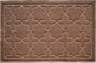 "XL 35"" x 23"" Door Floor Mat Indoor Outdoor Entrance Kitchen Bath Shower Garage Patio Non-Skid / Slip 100% Rubber Antibacterial Waterproof Flexible PVC - Use Anywhere Inside Outside (Brown)"