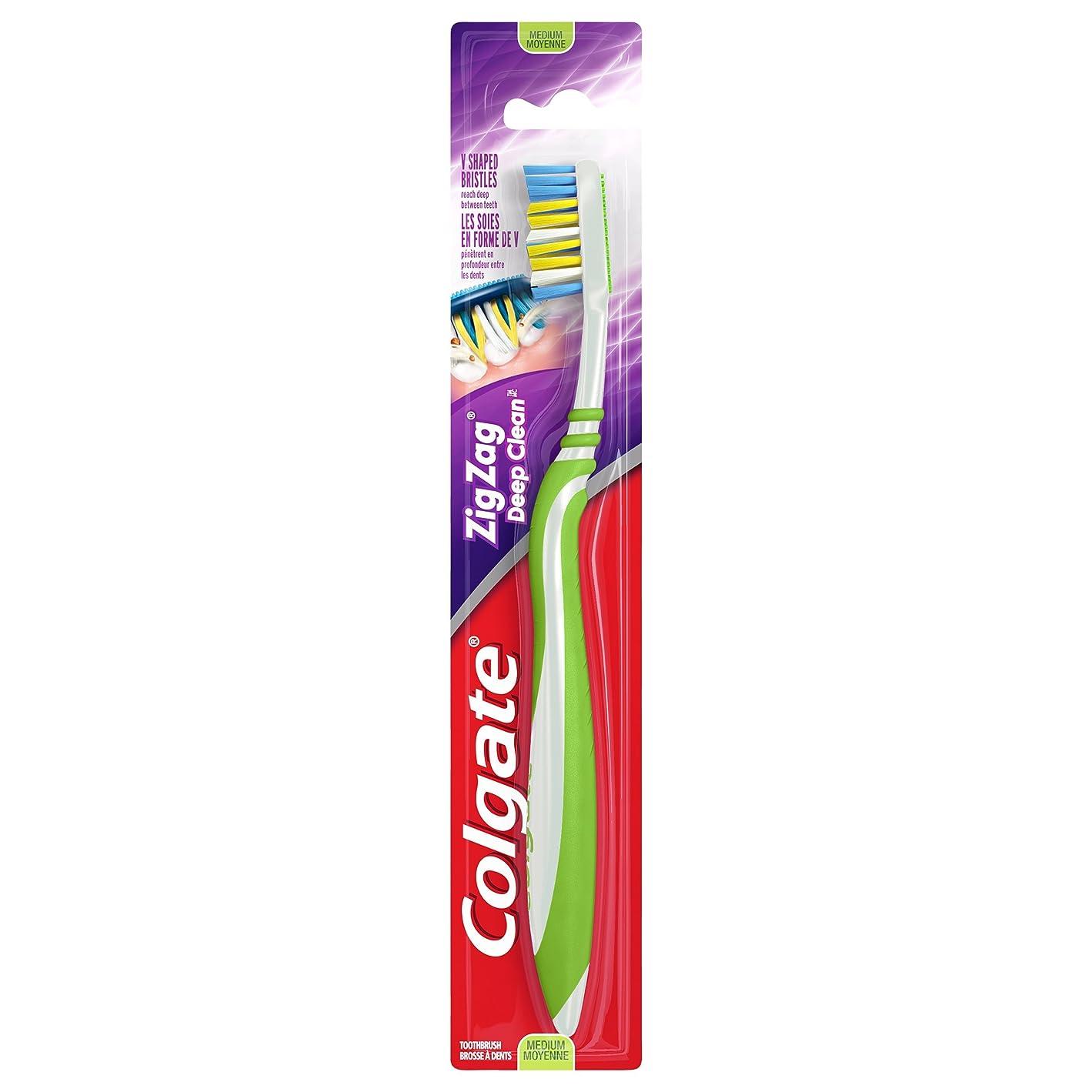 立方体谷おんどりColgate ジグザグディープクリーン歯ブラシ、ミディアム(6パック)
