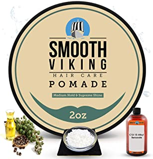 Sponsored Ad - Pomade for Men, Medium Hold & High Shine,Hair Styling Formula for Straight, Thick and Curly Hair, 2 OZ - Sm...