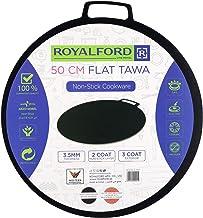 Royalford Non-Stick Flat Tawa 50cm,Black,Aluminum