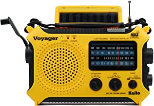 Kaito KA500 5-way Powered Solar Power,Dynamo Crank, Wind Up Emergency AM/FM/SW/NOAA Weather Alert Radio with Flashlight,Re...