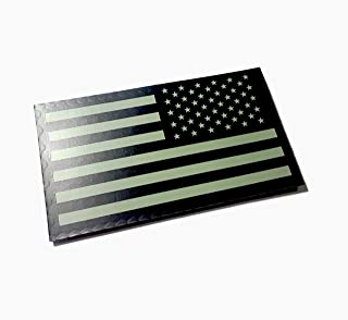 Reversed Black and Ranger Green Infrared Reflective USA Flag Military Patch (EMPIRE TACTICAL - USA)