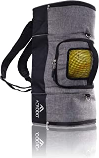 Ball Bag Backpack with Ball Holder by Acrodo - Gym Shoes Compartment, Lunch Cooler - Sports Duffel Bag Gym Gear Tote for G...