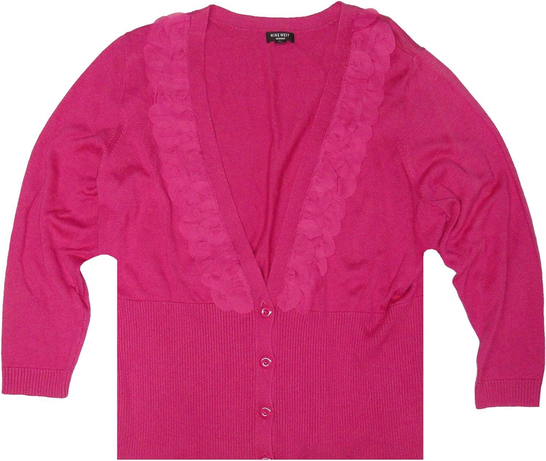 Nine West Women's Monte Bianco Cardigan Sweater, Pink Bouquet