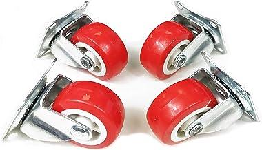 Aurstore BASA 4 wielen voor meubels 50 mm, zwenkwiel zonder rem (50 mm).