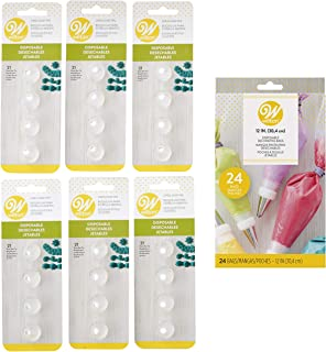 Wilton Disposable No. 21 Open Star Decorating Tips and Bags Set, 25-Piece