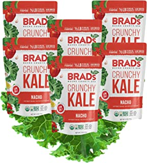 Brad's Plant Based Organic Crunchy Kale, Nacho, 6 Count