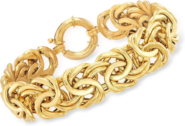 Ross-Simons 18kt Yellow Gold Byzantine Bracelet