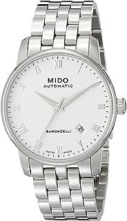 MIDO - Baroncelli II 38mm M86004261 - Reloj de Caballero automático, Correa de Acero Inoxidable Color Plata
