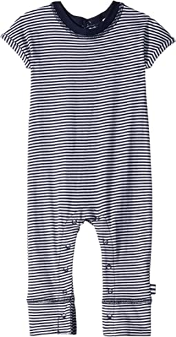 Yarn-Dyed Stripe Short Sleeve One-Piece (Infant)