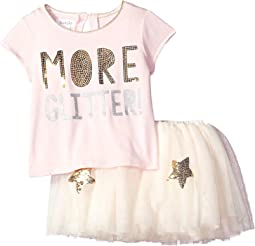 Mud Pie More Glitter Two-Piece Tutu Skirt Set (Infant/Toddler)