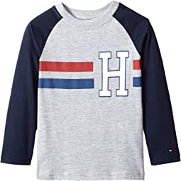 Tommy Hilfiger Kids - Horizontal Stripe-Bex Jersey Long Sleeve Tee (Big Kids)