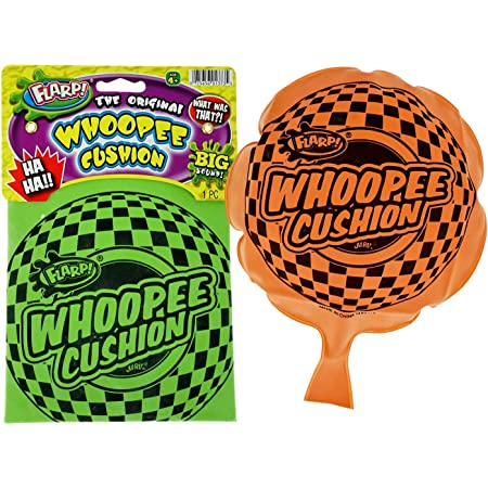 """JA-RU Whoopee Cushion Flarp Original Classic Prank Toy 8"""" (Pack of 1) Gag & Prank Whoopie Toys for Kids and Adult. Farrt Toy Makes Gas Sounds Noise. Great Party Favor Supply. Item #1373-1A"""