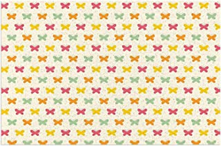 Retro Vintage Pattern In Vivid Tones with Colorful Butterflies Cute Seasonal Nature Garden Multicolor Mats Non Slip Rubber...