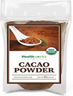 Healthworks Cacao Powder (32 Ounces / 2 Pounds) | Cocoa Chocolate Substitute | Certified Organic | Sugar-Free, Keto, Vegan...