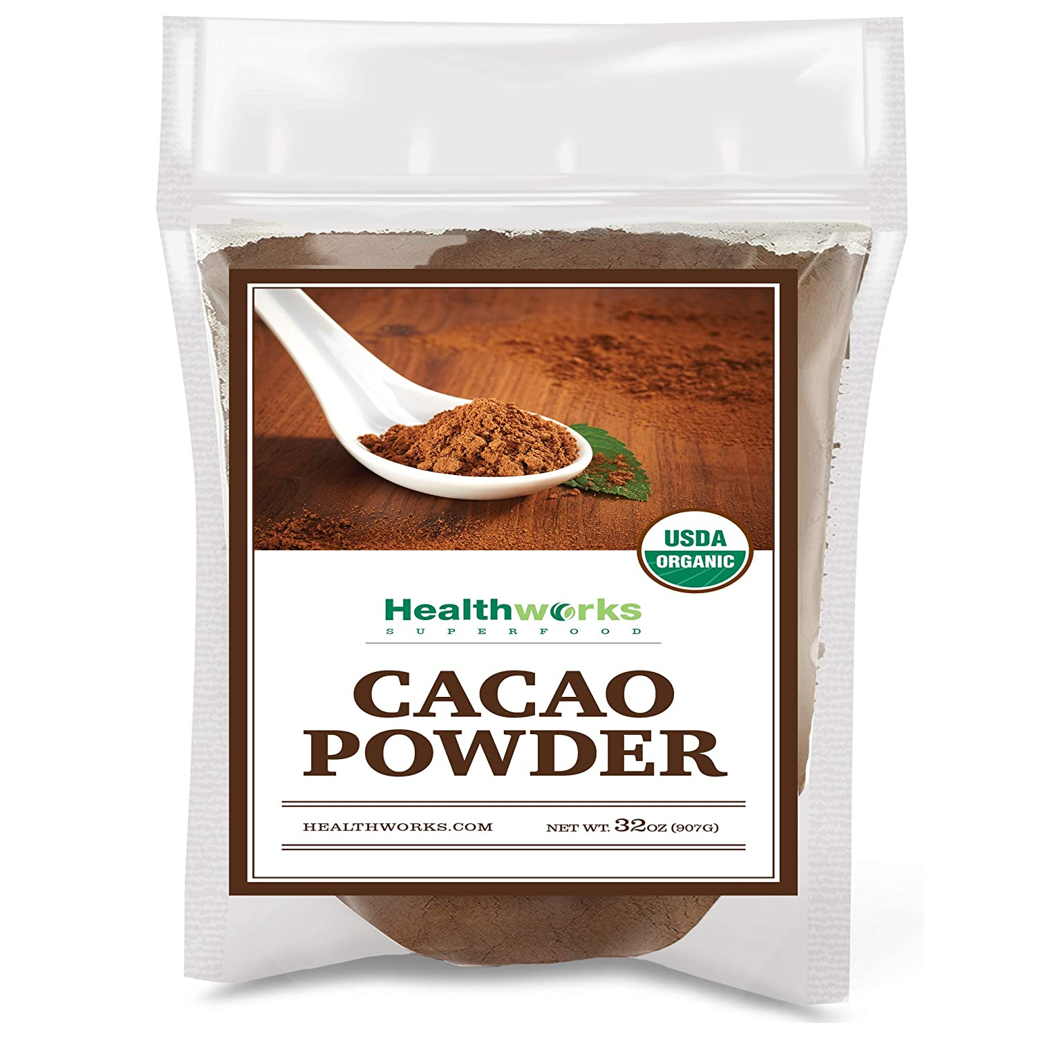 Healthworks Low price Cacao Powder 32 Ounces Chocolat 2 Cocoa 2021 model Pounds