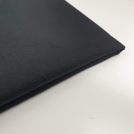 1m Black Dalston Mill Fabrics 100/% Premium Plain Cotton Fabric