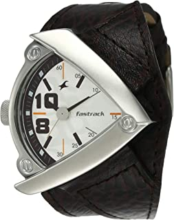 Fastrack Bikers Analog White Dial Men's Watch -NK3022SL01