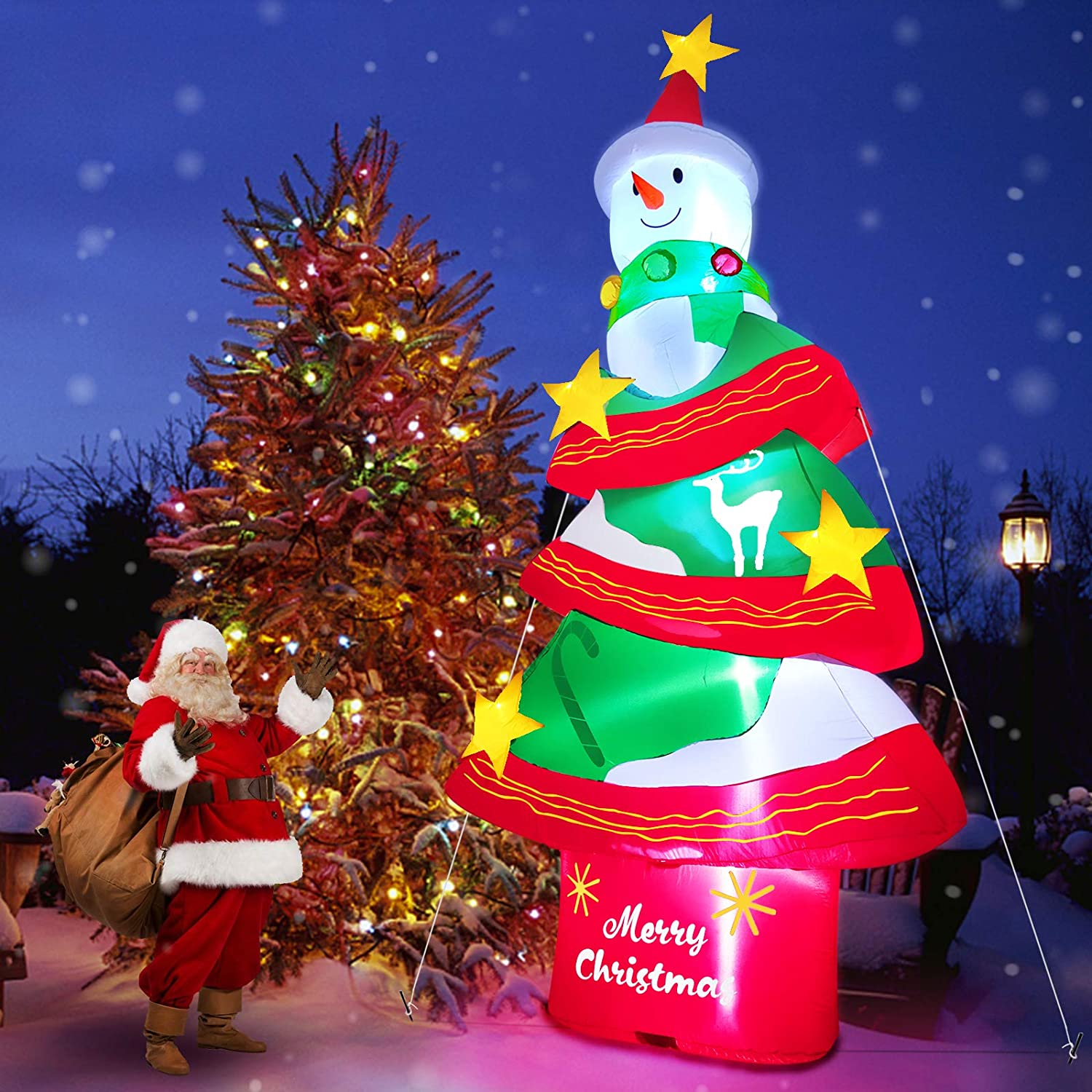 TURNMEON 12 Feet Christmas Tree with Super Outlet SALE sale Inflatables Light