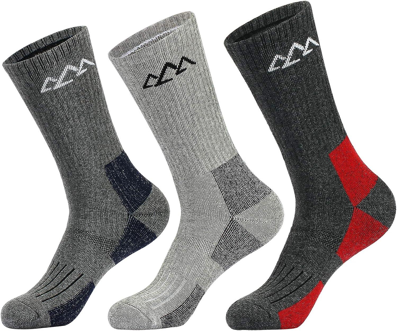 innotree 3 Pack Men's Full Cushioned Socks 5 popular Hiking Quart Walking Free Shipping New
