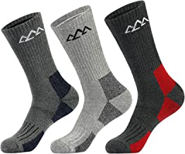 innotree 3 Pack Men's Full Cushioned Hiking Walking Socks (Low/Quarter/Crew), Moisture Wicking Blister Resist Multi Perfor...