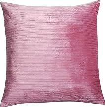Almofada com detalhes em veludo - Rosa - 50x50Cm - Mart