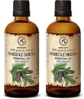Aceite Esencial Abeto 200ml - Siberiano - 2x100ml - Abies Sibirica - Rusia - 100% Puro y Natural - Mejor para la Aromatera...