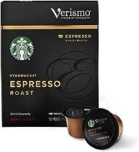 Starbucks Verismo Espresso Roast Espresso Single Serve Verismo Pods, Dark Roast, 6 boxes of 12 (72 total Verismo pods)