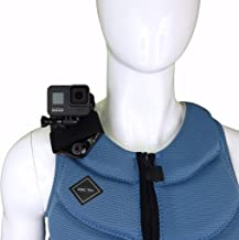 STUNTMAN Vest Mount for GoPro and Other Action Cameras - for Non-inflatable Life Vests, Tactical Vests and Other Gear with Wide Straps