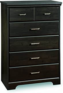 South Shore Versa Collection 5-Drawer Dresser, Ebony with Antique Handles