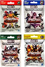 Hasbro Kre-O Transformers Micro Changers 4 Pack Bundle Includes: Collection 1, 2, 3 & 4 Mini Figure Blind Bag Mystery Packs (1 Pack of Each)
