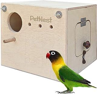PetNest® Breeding Box Bird Nest with Perch for Lovebird Standard