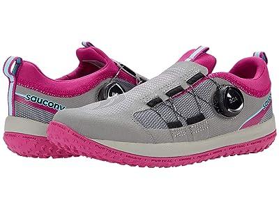 Saucony Kids S-Switchback 2.0 (Little Kid/Big Kid) (Grey/Magenta) Girls Shoes