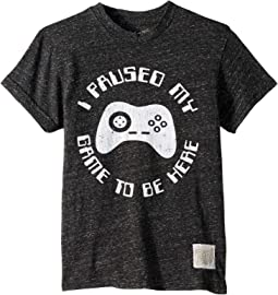 I Paused My Game to be Here Vintage Tri-Blend Tee (Big Kids)