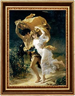 Eliteart -The Storm by Pierre Auguste Cot Giclee Framed Art Canvas Print -Framed Size:24 1/2''x 34 1/2''