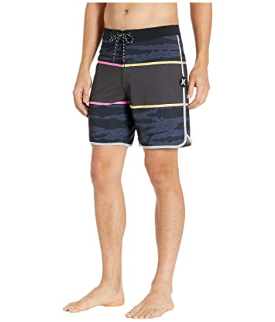 Hurley 18 Phantom Flashback Boardshorts (Black) Men