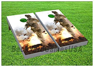 Cornhole Boards Beanbag Toss Game W Bags Us Military Army Marine Soldier Set 177