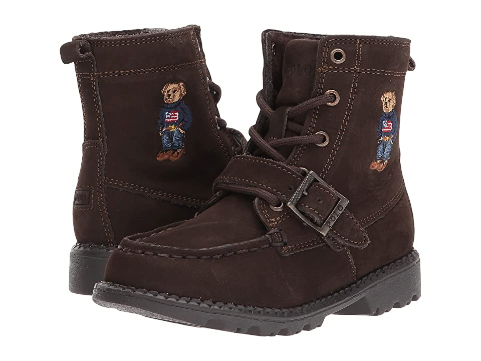 Polo Ralph Lauren Kids Ranger Hi II (Toddler) (Chocolate Nubuck/Polo Sweater Bear) Boys Shoes