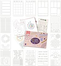 Ultimate Productivity Stencil Set for Dotted Journals - Time Saving Planner Accessories/Supplies Kit Makes Creating Layout...