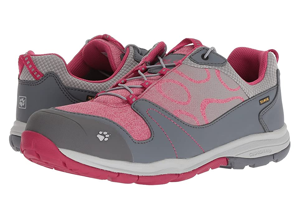 Jack Wolfskin Kids Grivla Texapore Low (Toddler/Little Kid/Big Kid) (Azalea Red) Girls Shoes