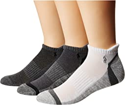 Athletic Feed Stripe Sole Low Cut 3-Pack Socks