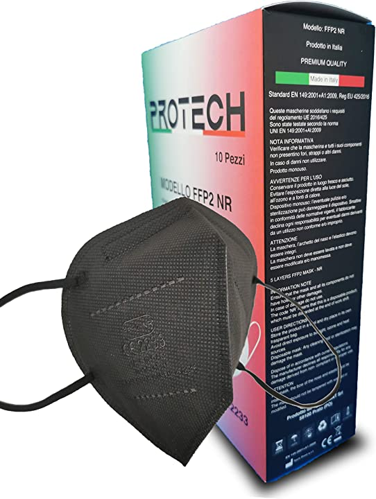 protech mascherine ffp2 certificate ce 2233 categoria dpi: iii conformi en 149:2001 + a1:2009. box da 10pz b08ykhr25s