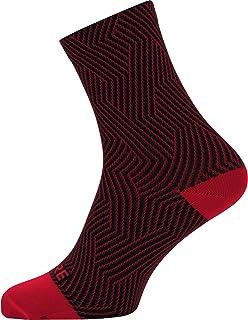 C3 Calcetines para ciclismo unisex, Talla: 35-37, Color: rojo/negro