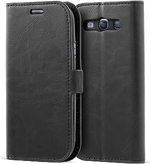 Mulbess Funda Samsung Galaxy S3 [Libro Caso Cubierta] [Bookstyle de Billetera Cuero de la PU] con Tapa Magnética Carcasa para Samsung Galaxy S3 / S3 Neo Case, Negro