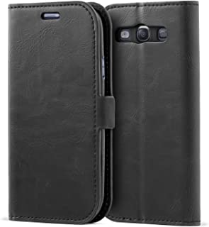 Samsung Galaxy S3 Case,Mulbess Vintage Leather Wallet Case with TPU Inner Shell, Magnetized Closure, Card Slots Money Pouch and Stand Feature for Samsung Galaxy S3,Black
