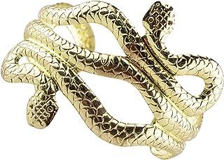 EAWIN Egptyian Goddess Gold Snake Open Cuff Upper Arm Bracelet Great for Cleopatra Costume Medusa Costume Halloween Adjustable
