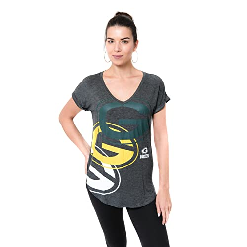 Green Bay Packers Football Maternity Black Scoop Neck